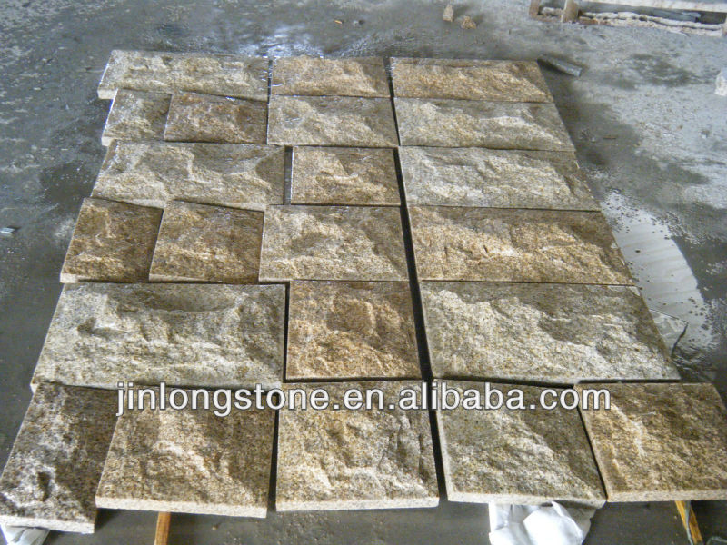 Cheap Outdoor Rusty Yellow Grey Granite Paver