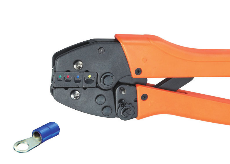 Ratchet crimping plier 0.25-6.0mm2  AWG23-10 Dedicated cable connector crimping tool