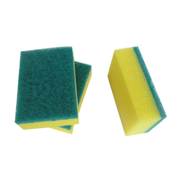 High Quality Green Non-abrasive Cleaning Scouring Pad With Sponge
