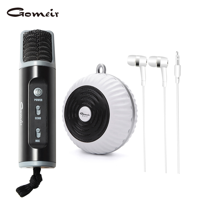 Gomeir 600mah li-ion polymer battery echo effect portable wireless audio interface recording studio karaoke player 198S