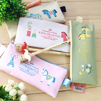 Wholesale korean design new cartoon oxford material zipper pencil bag pencil case stationery bag with horse design