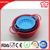 Eco-Friendly Feature and 8 Inch Silicone Material Silicone Collapsible Colander / Foldable Silicone Bowl/Silicone Strainer