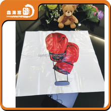 cosmetics packing custom shape plastic bag birthday party plastic bag