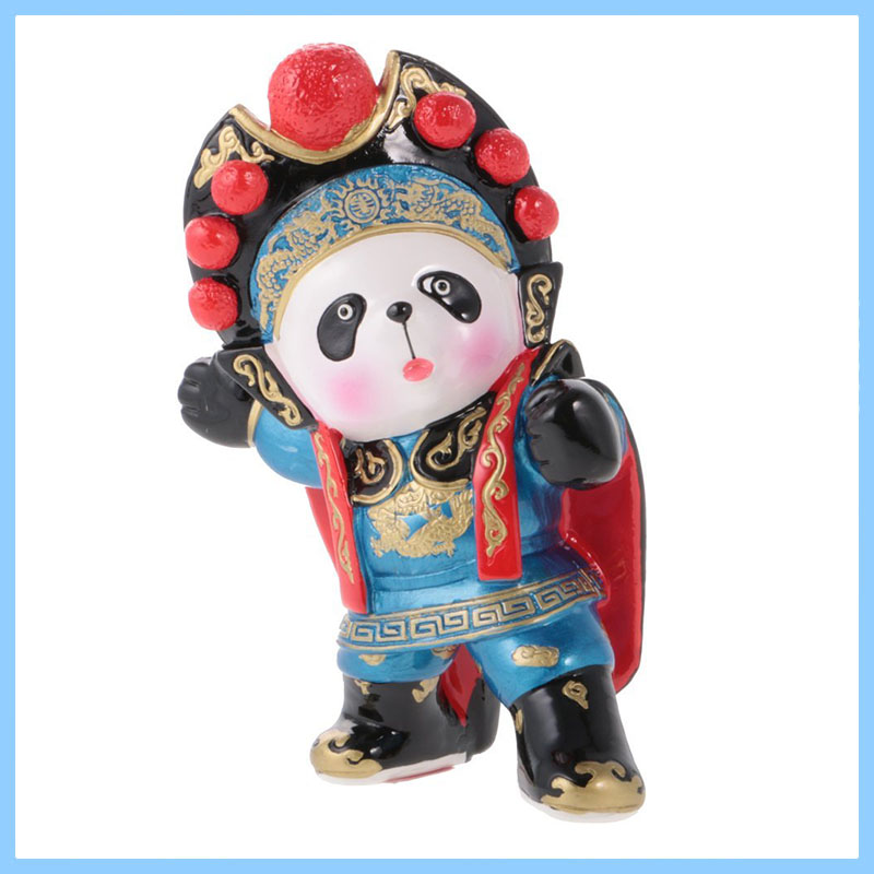 Resin Jili Online Funny Carton Panda Bear Animal Model Doll Action Figure