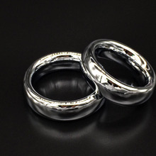 Heavy round metal cock ring, Alloy penis erection helper, Inner D: 38mm/45mm/50mm Male sex toys, adult product