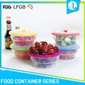Nice design silicone material recycled round food container