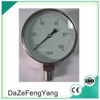 New Product Cheap Stainless Steel 2inch Capsule Air Inflator Pressure Gauge YE-150H