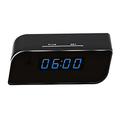 Hidden Camera Wireless IP Security Camera Alarm Clock Live Stream Video with Motion Detection Alarm, Spy Camera, Black