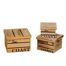 Set of 3 Wooden Storage Crate Storage Box For Living Room