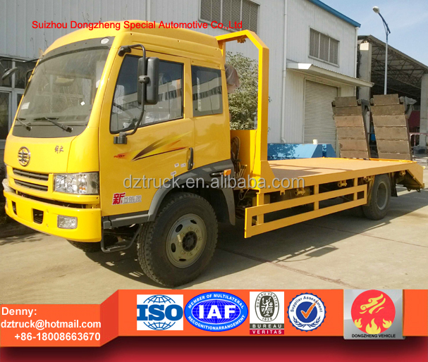 2016 new coming cargo carrying flatbed truck, FAW J6 bulldozzer transport truck
