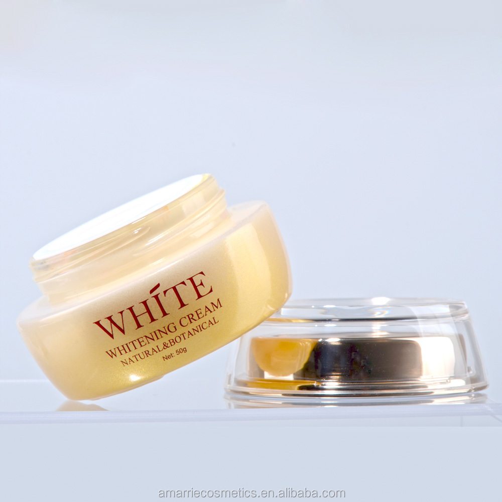 Skin Whitening Products Glass Jar Deep Moisturizing Face Anti Acne Saffron Face Whitening Cream For Men