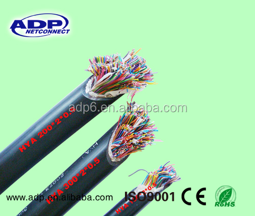 outdoor pe jacket multi pair telephone cable