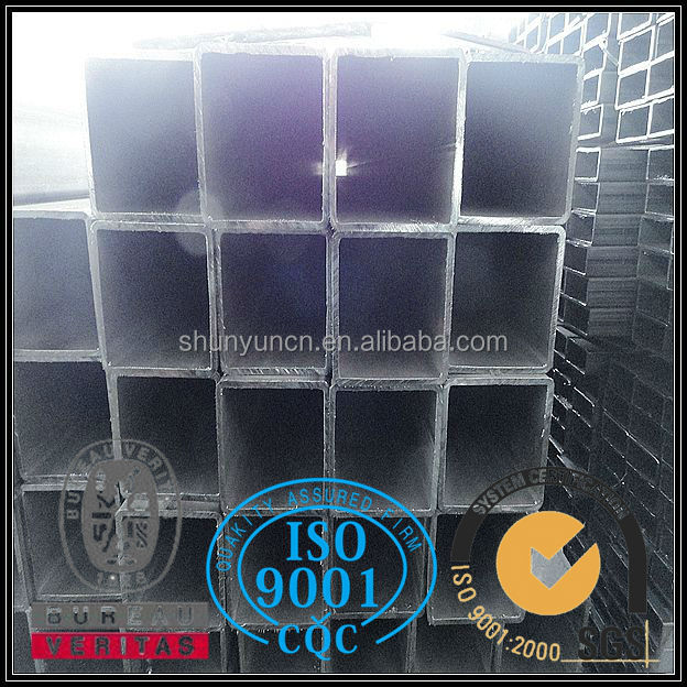 High Quality Hot Rolled square pipe with grade JIS SS400 SS490 carbon steel for building material
