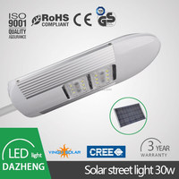 Outdoor waterproof high quality 30w IP67 best solar panel led street solar light\lighting