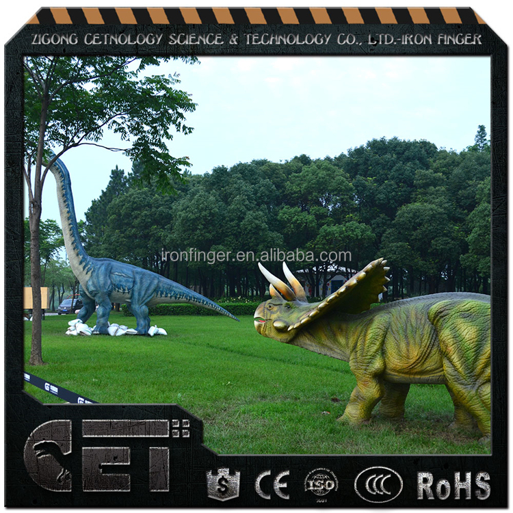 Cetnology exclusive kids playground animatronic dinosaur statues