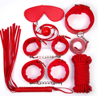 adults customized pu pvc bondage 7pcs furry leather set for sex toys factory