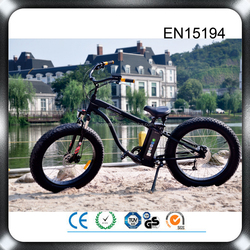 Aluminum alloy 26 inch fat tire 48v 500w green power electric beach cruiser bicycle