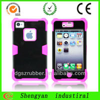 Shockproof mobile phone casings with silicone and PC hybrid