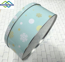 Cake tin packaging/Round metal cake tin can/Biscuite tin box