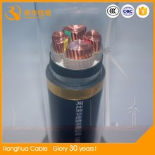 low voltage power cable 4core copper aluminum conductor pvc insulation armour jacket