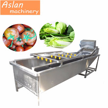 fruit vegetable cleaning machine/industrial cherry tomato bubble washing machine