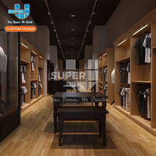 Retail Store Fixtures for Men Boutique Menswear Store Fixture Manufacturer China
