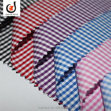 Wholesale cotton check egyptian yarn dyed cotton shirt fabric for men