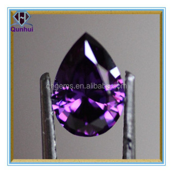 Fabulous Amethyst Pear shaped Cubic Zircon Stone