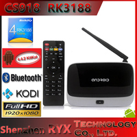 2013 hot google android tv box cs918 with remote control wifi tv smart box iptv box