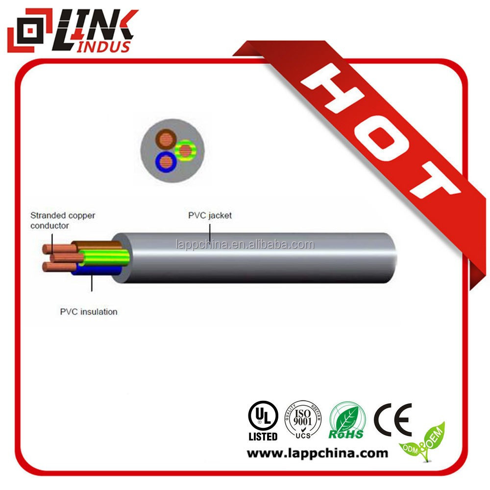 UV protection cool and heat resistant electrical cable wires 2core solid cable
