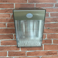 stainless steel waterproof PIR motion wall lamp led solar garden lights