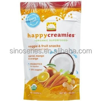 food grade flexible plastic packaging bag for fruit snack