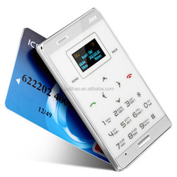 DIHAO Aiek M7 Mini card phone 1.0 Inch Daul Band Ultra-thin Pocket Touch Mobile Cell Phone MP3 Bluetooth aiek m3 Cell Phone