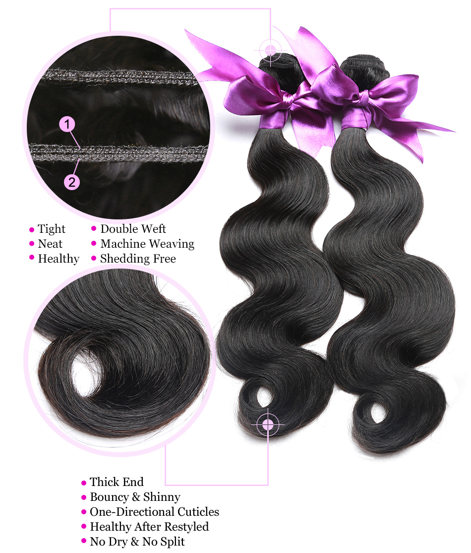 04 body wave human hair bundles