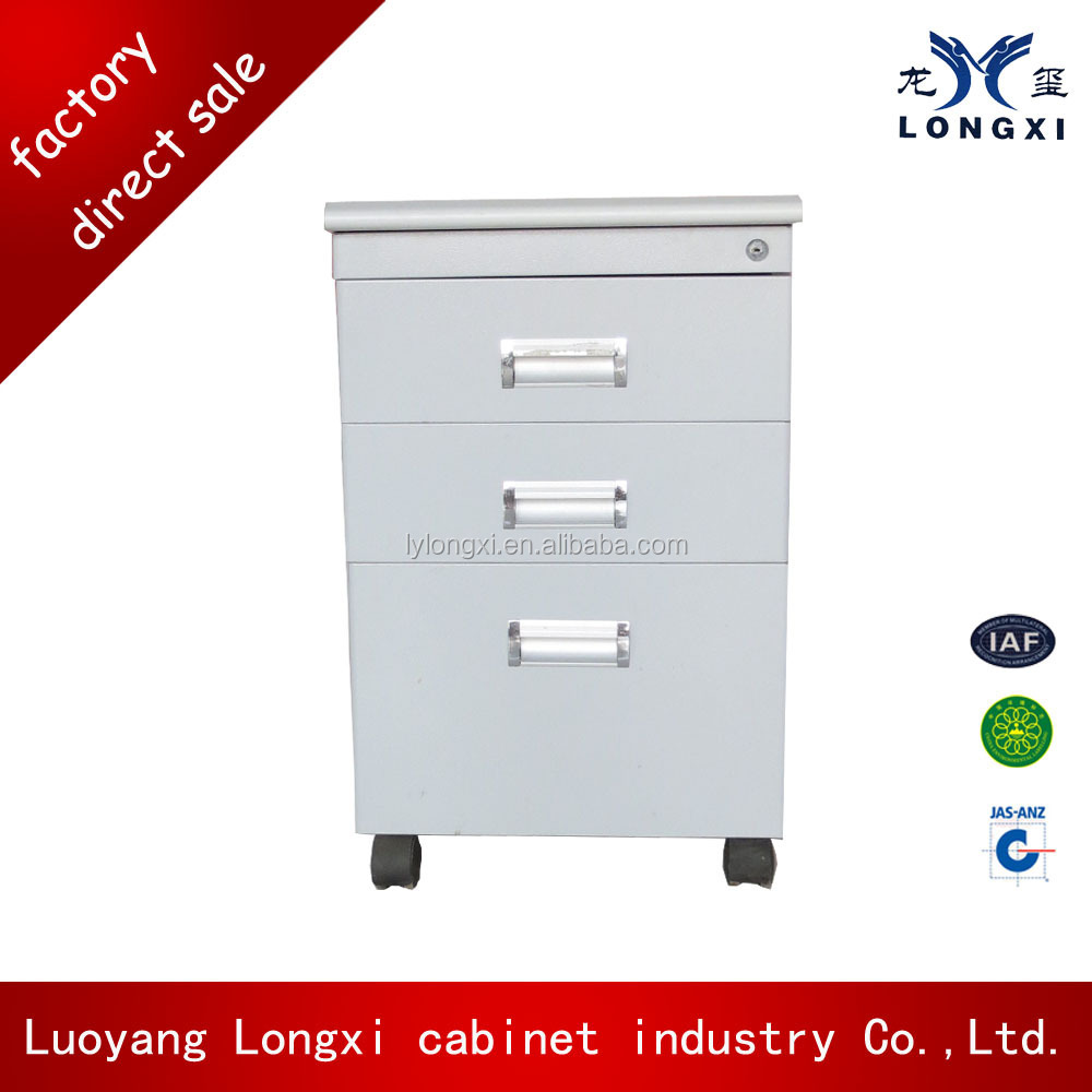 hospital bedside Cabinets steel bedside locker with wheel
