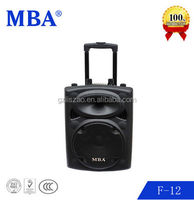 MBA factory Professional trolly speaker with bluetooth system and remote control