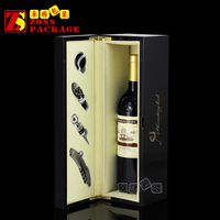 Custom Classic Wine Packaging Box, Black Wooden Wine Box