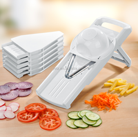 V shape slicer with 5 cutting blades ,ABS material with stainless blades