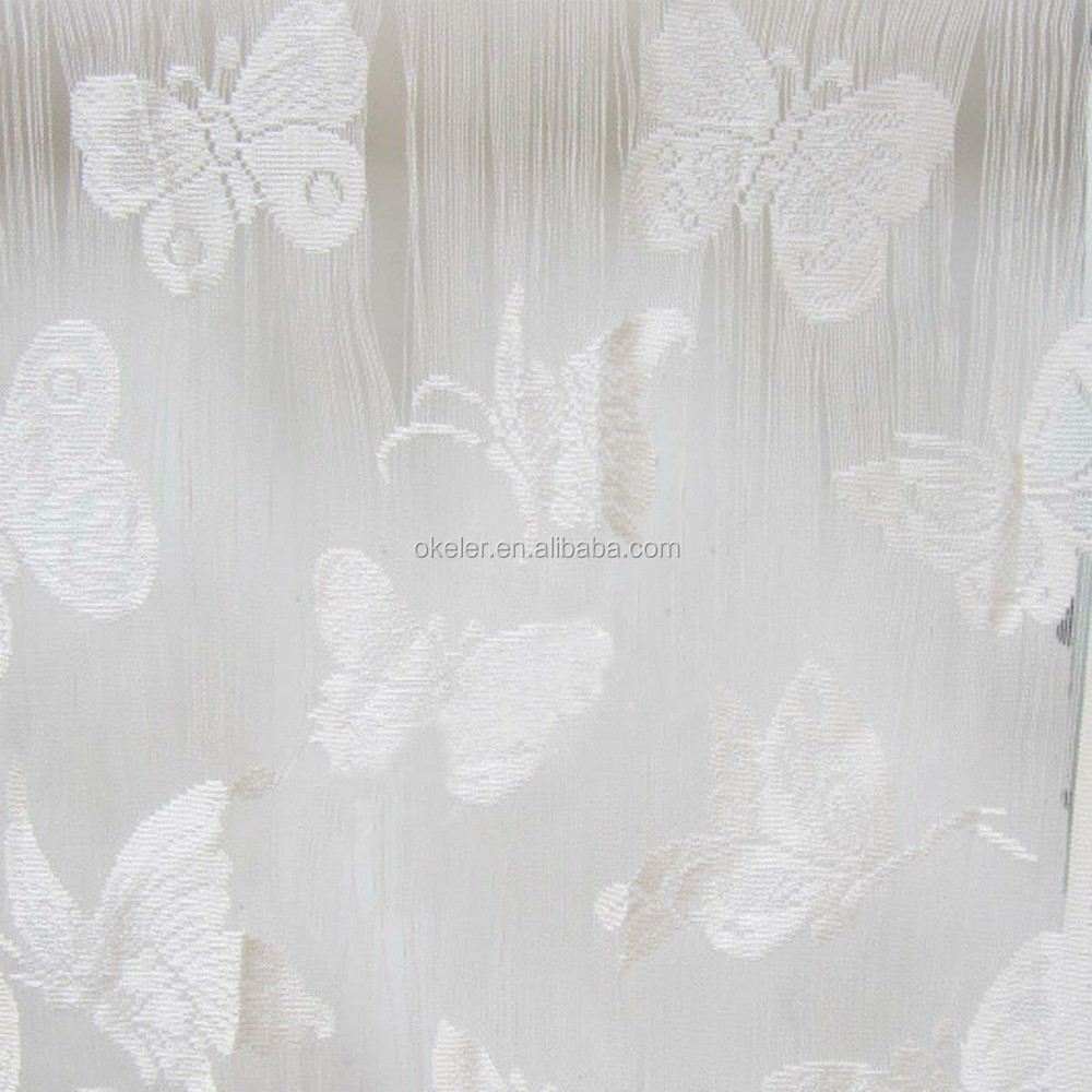 White Romantic Door Window Butterfly String dressing rooms Curtain