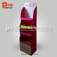 retail picture frame cardboard floor display stand in China