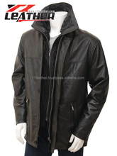 Winter larger size indoor men's leather coats