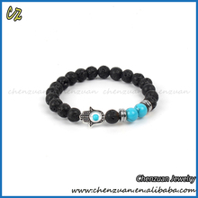 China supplier fashion spiritual mens jewelry black wood beaded bracelet