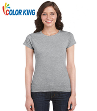 Customize t shirt logo printing heat press t-shirt of 100 cotton