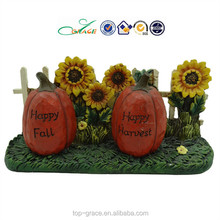 resin pumpkin and sunflower crafts harvest decoration for garden