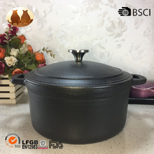 cast iron matt black enamel pot