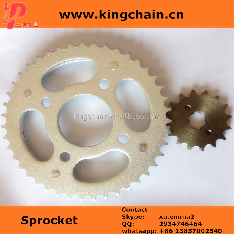 CG150 1045# galvanized motorcycle sprocket kits and transmission chain