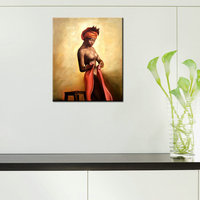 Home Decorative Lady Art Black African Painting