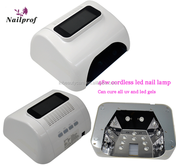 Nailprof 48W rechargeable nail LED lamp/48w cordless nail uv lamp for all uv and led gels