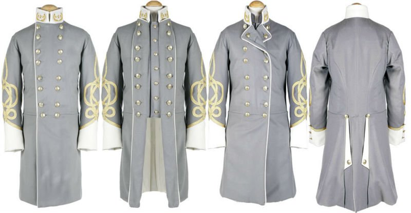 Civil War General officer Frock Coat - All views