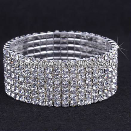7line Clear Rhinestone Stretch Bangle Crystal Bracelet